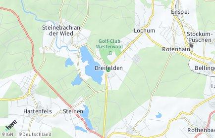 Stadtplan Dreifelden