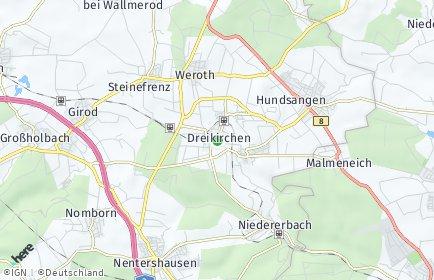 Stadtplan Dreikirchen