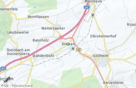 Stadtplan Dreisen