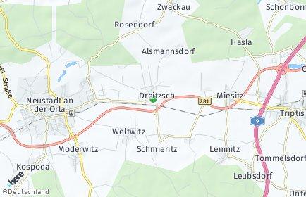 Stadtplan Dreitzsch