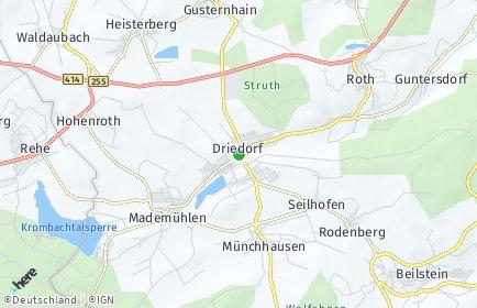 Stadtplan Driedorf