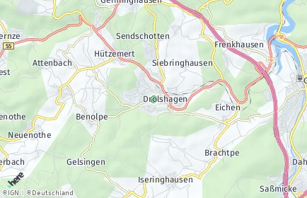 Stadtplan Drolshagen