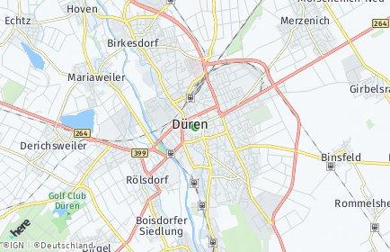 Stadtplan Düren OT Mariaweiler