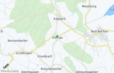 Stadtplan Dürnau (Kreis Biberach)