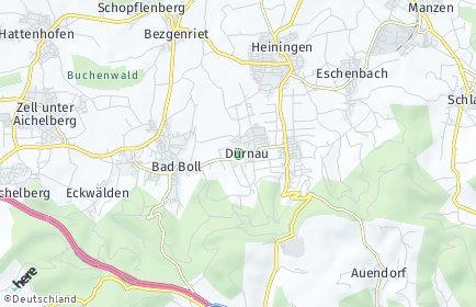 Stadtplan Dürnau (Kreis Göppingen)
