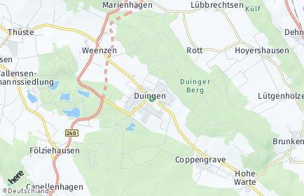 Stadtplan Duingen
