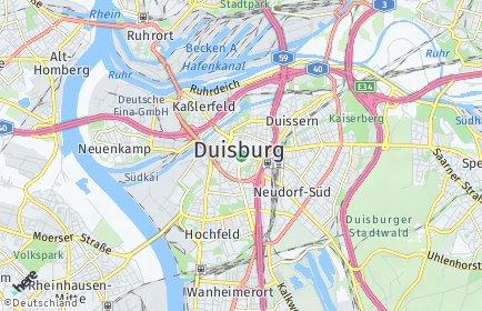 Stadtplan Duisburg