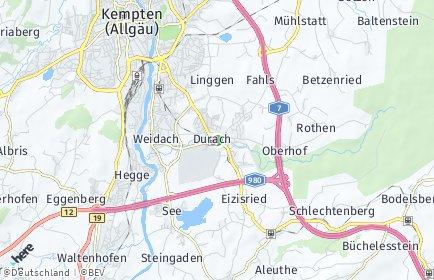 Stadtplan Durach