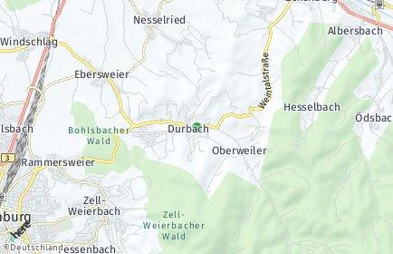 Stadtplan Durbach