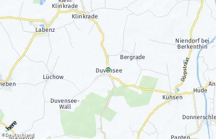 Stadtplan Duvensee