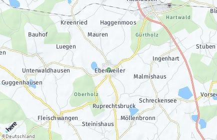 Stadtplan Ebenweiler
