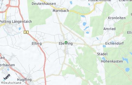 Stadtplan Eberfing