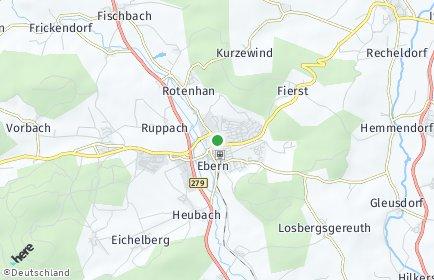 Stadtplan Ebern OT Siegelfeld