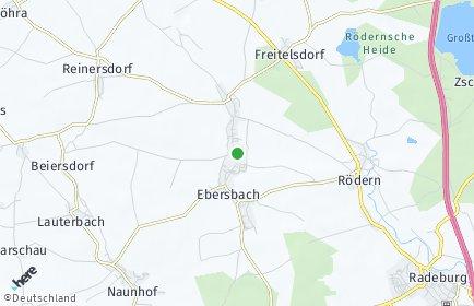 Stadtplan Ebersbach bei Großenhain