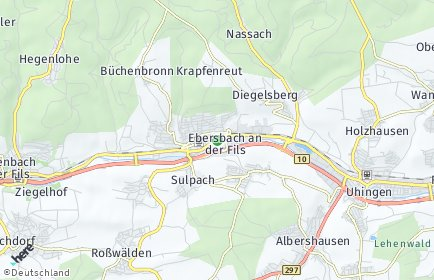 Stadtplan Ebersbach an der Fils