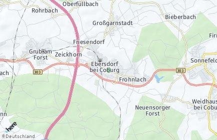 Stadtplan Ebersdorf bei Coburg