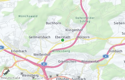 Stadtplan Eberstadt