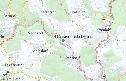 Stadtplan Ebhausen OT Rotfelden