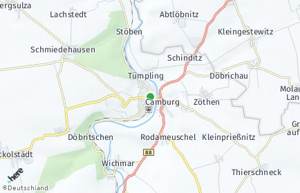 Stadtplan Dornburg-Camburg