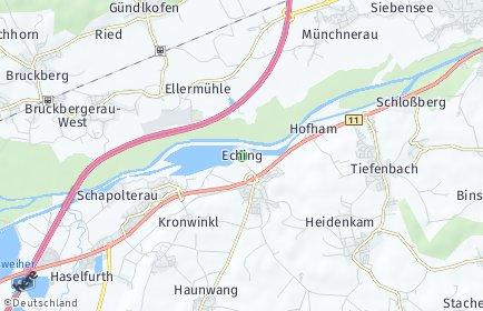 Stadtplan Eching (Kreis Landshut) OT Neuhof