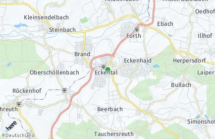Stadtplan Eckental