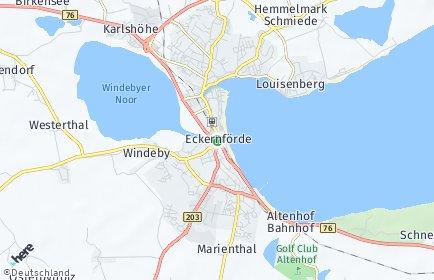 Stadtplan Eckernförde