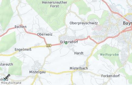 Stadtplan Eckersdorf