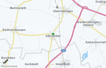 Stadtplan Edersleben