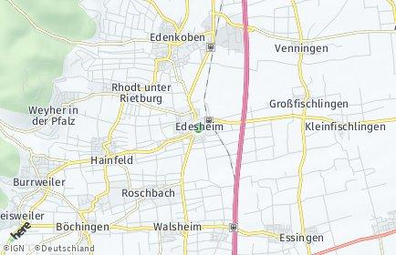 Stadtplan Edesheim