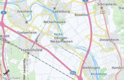 Stadtplan Edingen-Neckarhausen