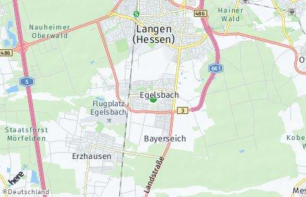 Stadtplan Egelsbach