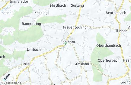 Stadtplan Egglham