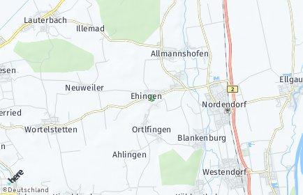 Stadtplan Ehingen (Kreis Augsburg)