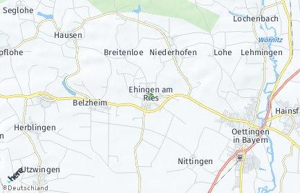 Stadtplan Ehingen am Ries