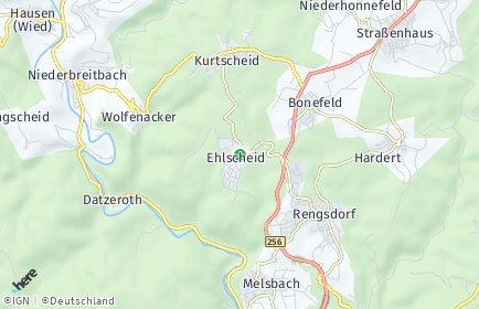Stadtplan Ehlscheid