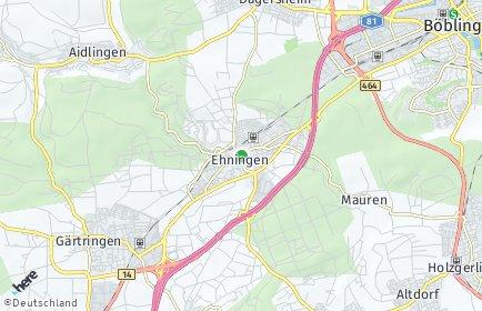 Stadtplan Ehningen