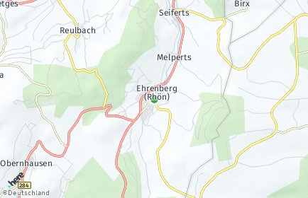 Stadtplan Ehrenberg (Rhön)