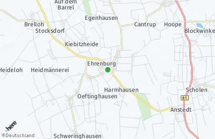 Stadtplan Ehrenburg