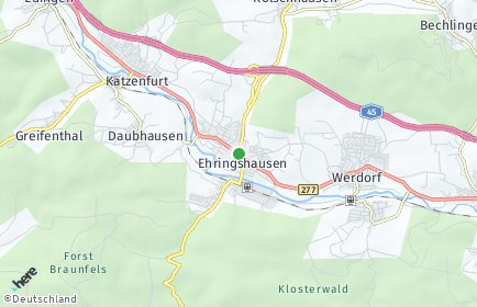 Stadtplan Ehringshausen