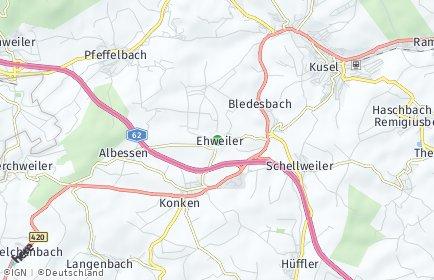 Stadtplan Ehweiler