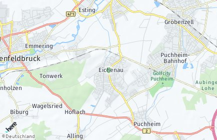 Stadtplan Eichenau