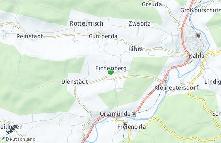 Stadtplan Eichenberg bei Jena