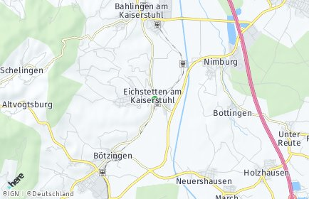 Stadtplan Eichstetten am Kaiserstuhl