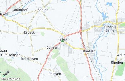 Stadtplan Eime