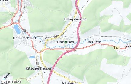 Stadtplan Einhausen (Thüringen)