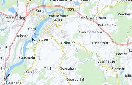 Stadtplan Eiselfing