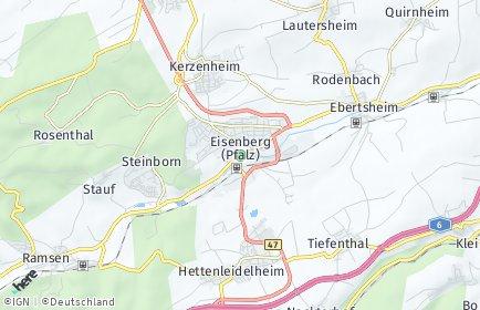 Stadtplan Eisenberg (Pfalz)