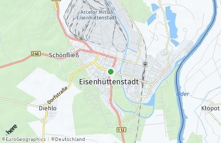 Stadtplan Eisenhüttenstadt