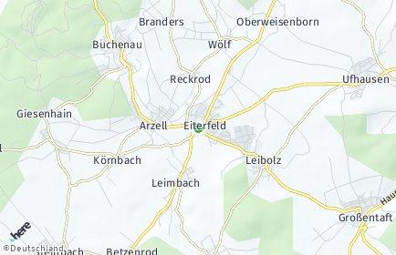 Stadtplan Eiterfeld