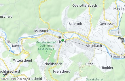 Stadtplan Eitorf